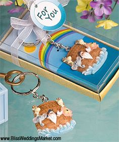 Image Detail For   Noahu0027s Ark Baby Shower Keychain : Noahu0027s Ark Theme Party  Favors
