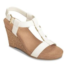 A2 by Aerosoles Plush Nite Women's Espadrille Wedge Sandals, Size: 5.5 Med, White Oth