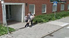 Two Swedish guys caught carrying a corpse caught on Google Street View.