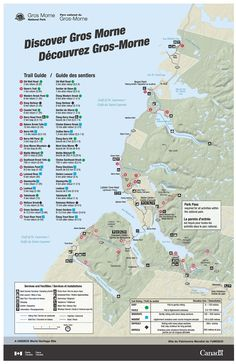 Parks Canada Georgian Bay Islands National Park Map of