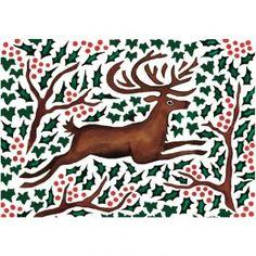 Amnesty International Leaping Deer Print Christmas Card