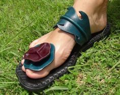 Handmade Leather Sandals Women and Men sandals leather craft original design from nature ***Bilayer Lotus Leaves design*** - alva Leather Belts, Cow Leather, Leather Craft, Leather Sandals, Men Sandals, Handmade Leather, Turquoise And Purple, Sandals Outfit, Leather Slippers