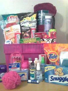 Away From Home Snacks and Essentials Care Package in Mini Laundry Gift Basket: Amazon.com: Grocery & Gourmet Food