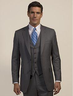 piece suits For Men, Latest 3 piece suits, 3 piece suits For Men, 3 . Mens 3 Piece Suits, Three Piece Suit, Mens Suits, Grey Suit Brown Shoes, Grey Suits, Grey Suit Wedding, Groomsmen Tuxedos, Charcoal Suit, Suit Shoes