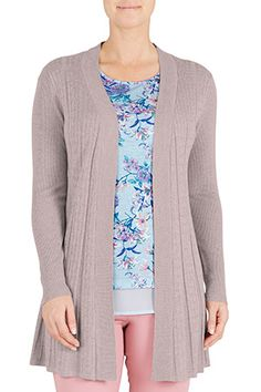 Cable Fan Edge to Edge Cardigan