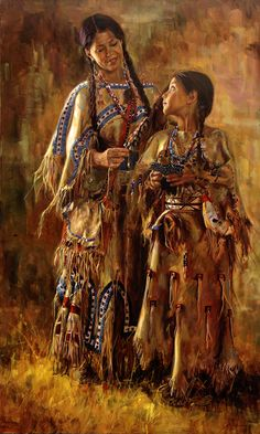 Native American Oil Paintings | ... Download Indian Village Native American Art Oil Painting HD Wallpaper