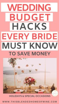 20 Wedding Budget Hacks Every Bride Should Know - This Blended Home of Mine - wedding on a budget ideas saving money Plan Your Wedding, Budget Wedding, Wedding Tips, Wedding Events, Destination Wedding, Dream Wedding, Wedding Stuff, Wedding Hacks, Wedding House