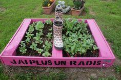 Pallet as a mini-planters / Mini potager en palettes | 1001 Pallets