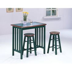 World Imports Furnishings 3 Piece Counter Height Bar Table Set