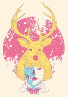 """deer oh dear""  artwork for sale..."