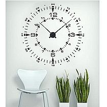 time clock wall decal