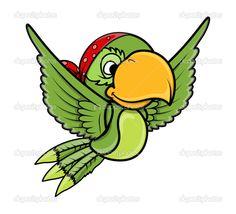 perroquet pirate dessin - Recherche Google
