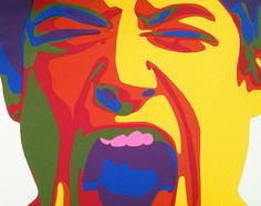 postpanda: The Scream by Rankin Willard paper collage. Love the color scheme pop art feel