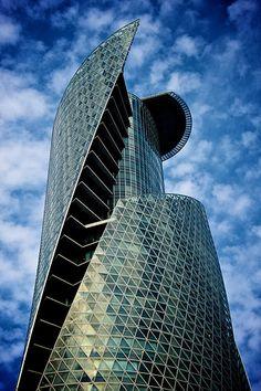 Mode Gakuen Spiral Towers ( モード学園スパイラルタワーズ ), Nakamura Ward ( 中村区 ), Nagoya ( 名古屋 ), Aichi Prefecture ( 愛知県 ), Japan ( 日本 ) | official webpage (i think) ... http://www.mode.ac.jp/nagoya/index.html