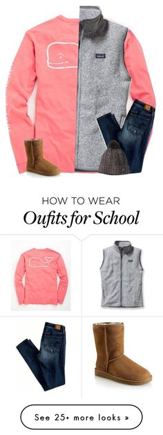 """ew school"" by secfashion13 on Polyvore featuring Vineyard Vines, Patagonia, American Eagle Outfitters, Smartwool and UGG Australia"