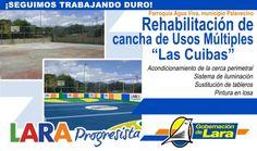 """@Gobernación de Lara Rehabilitación Cancha de Usos Múltiples """"Las Cuibas"""" #AguaViva #Palavecino #LaraProgresista"""