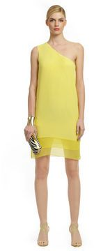 Canary yellow - perfect for a summer soiree.  Tibi Sheer Genius Dress