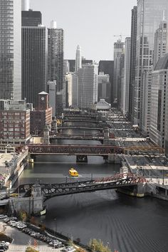 Chicago Bridges Rivers - took the architectural tour by boat in the early morning and it was fantastic!