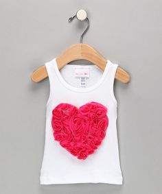 Take a look at this White & Fuchsia Heart Tank - Infant, Toddler & Girls on zulily today!