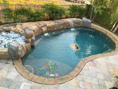 Turtle & Friends Ceramic Swimming Pool Mosaic x Small Inground Pool, Small Swimming Pools, Small Backyard Pools, Backyard Pool Landscaping, Backyard Pool Designs, Small Pools, Swimming Pools Backyard, Swimming Pool Designs, Lap Pools