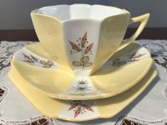 Shelley Queen Anne Trio 'Enchantment' 13947/S16   Pottery, Glass, Pottery, Porcelain, Shelley   eBay!