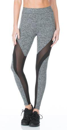 a915b233f Frame High Rise Legging - Heather Grey Black