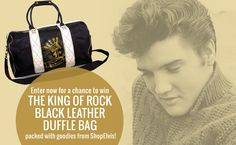 The Essential Elvis Grab Bag Sweepstakes Winner will receive the King of Rock Black Leather Duffle Bag packed with Elvis goodies! Three runner ups will also receive Essential Elvis prize packs. Goo...