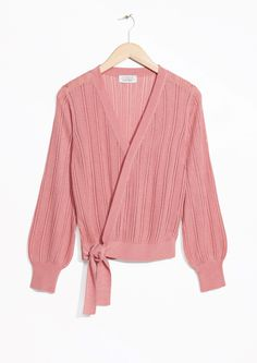 & Other Stories image 1 of Wrap Tie Sweater in Pink