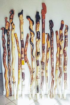 Hand carved walking stick Functional Art Hiking by NativeView, $160.00