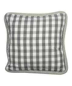 Like the thick cording around the edge done in a smaller check. Gray Anne & Livia Pillow Cover on #zulily! #zulilyfinds