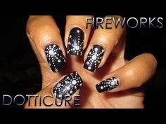 Holo Fireworks Inspired Dotticure | DIY Nail Art Tutorial - YouTube