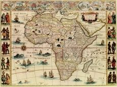 Art Print: Africa - Panoramic Map - Africa by Lantern Press : Artist Canvas, Canvas Art, Canvas Prints, Art Prints, Canvas Size, Old Maps, Antique Maps, Art Carte, Kunst Poster