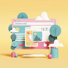 Some simple illustration tests. Some simple illustration tests. Simple Illustration, Digital Illustration, Illustration Styles, Web Design, Graphic Design, Flat Design, Design Trends, 3d Character, Character Design