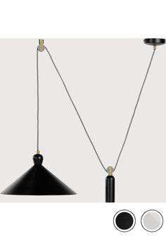 Ogilvy Rise and Fall Pendant, Matt Black and Antique Brass Brass Pendant Light, Ceiling Pendant, Pendant Lamp, Pendant Lighting, Breakfast Bar Lighting, Autumn Lights, Love And Light, Lamp Light, Antique Brass