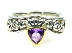18K Sterling Silver Amethyst Ring. Get the lowest price on 18K Sterling Silver Amethyst Ring and other fabulous designer clothing and accessories! Shop Tradesy now