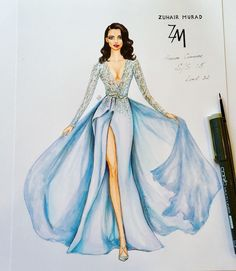 How to Draw a Fashionable Dress - Drawing On Demand Illustration Mode, Fashion Illustration Sketches, Fashion Sketchbook, Fashion Sketches, Dress Sketches, Dress Drawing, Fashion Design Drawings, Glamour, Pinterest Fashion