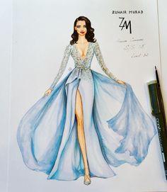 "#fashionillustration #zuhairmurad #handdrawn #sketch #luxury #designer #paris #art #glamour…"""