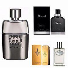Mas não se pode esquecer de um bom perfume!! Afinal, que mulher não gosta  de um homem cheiroso !  pacco rabanne  armanibeauty  gucci  prada ... b1a6d4d7f1