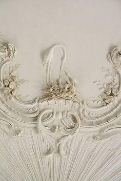 Лепка потолка,.дворец Rundale , Латвия / Rundale Palace, Latvia
