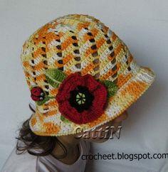 قبعات للبنات,طواقي للبنات,طريقة طاقية للبنات,بترون قبعة,كروشية للاطفال