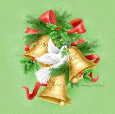 Christmas Pine Branch Golden Bells and Doves PNG Clipart Christmas Trimmings, Christmas Bells, Pink Christmas, Christmas Greetings, Christmas Time, Christmas Crafts, Christmas Ornaments, Xmas, Christmas Card Images