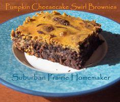 Gluten Free Pumpkin Cheesecake Brownies Recipe | Suburban Prairie Homemaker
