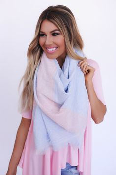 Pastel Light Weight Scarf- Powder Blue - Dottie Couture Boutique