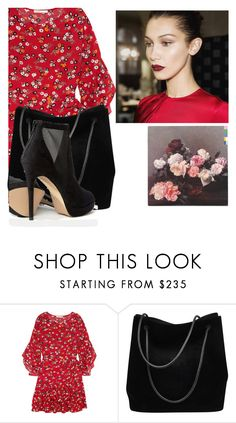 """""""Red"""" by bubblegum-penguin ❤ liked on Polyvore featuring Maje, Gucci and ALDO"""