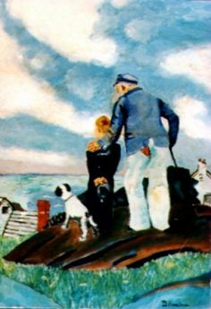 An Old Perv and the Sea Bad Art, Old Men, Old Things, Sea, Painting, Painting Art, The Ocean, Paintings, Ocean