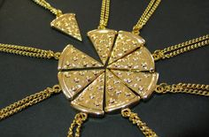 b for bel: Pizza Slices BFF Necklace. Cute!