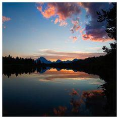 Coucher de soleil dans le Wyoming pour vous souhaiter une bonne journée ! ✌🏻🌅 #nps100