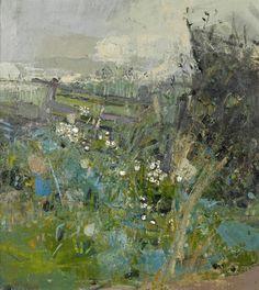 Joan Eardley ~ Flowers by the Wayside (British Artist, Abstract Landscape Painting, Landscape Art, Landscape Paintings, Abstract Art, Abstract Expressionism, Paintings I Love, Modern Art, Contemporary Art, Fine Art