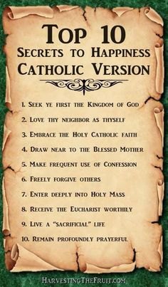 Happiness is .....being Catholic!