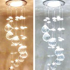 【送料無料】LEDシーリングライト クリスタル照明 玄関照明 埋込み式照明 LED対応 1灯 HL013